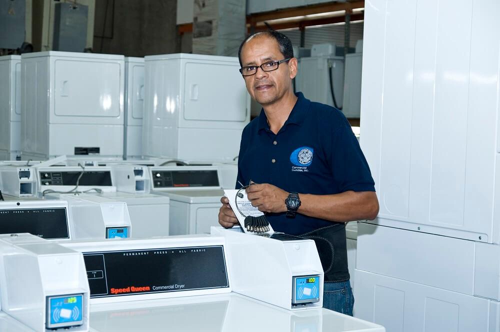 coin operated laundry machine repair